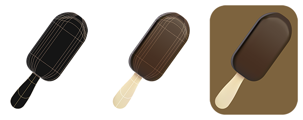 chocolate ice cream brown color